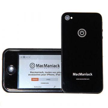 Heckschale Ersatzglas Ersatz MacManiack IPhone 4 Schwarz  Rückenschalen MacManiack iPhone 4 - 2