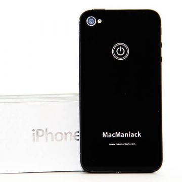 Heckschale Ersatzglas Ersatz MacManiack IPhone 4 Schwarz  Rückenschalen MacManiack iPhone 4 - 3