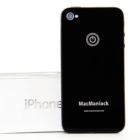 rear shell replacement glass replacement MacManiack IPhone 4 Black  Back covers MacManiack iPhone 4 - 3