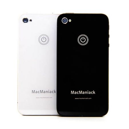 rear shell replacement glass replacement MacManiack IPhone 4 Black  Back covers MacManiack iPhone 4 - 4