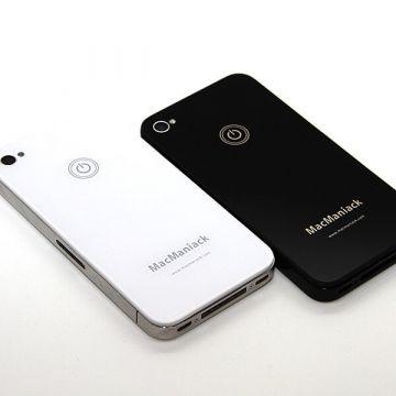 Heckschale Ersatzglas Ersatz MacManiack IPhone 4 Schwarz  Rückenschalen MacManiack iPhone 4 - 5