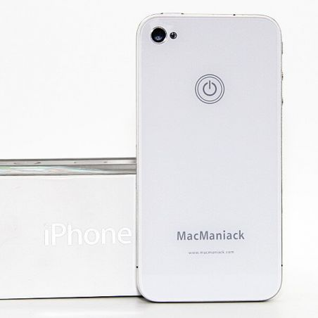 Achat coque arrière face de remplacement vitre MacManiack IPhone 4 Blanc IPH4G-301X