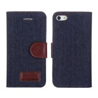 Denim style Portfolio Stand Case iPhone 5/5S/SE  Covers et Cases iPhone 5 - 1