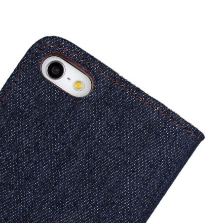 Denim style Portfolio Stand Case iPhone 5/5S/SE  Covers et Cases iPhone 5 - 6