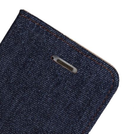 Denim style Portfolio Stand Case iPhone 5/5S/SE  Covers et Cases iPhone 5 - 7