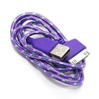 Braided USB Cable for iPhone iPad and iPod  Chargers - Powerbanks - Cables iPhone 4 - 3