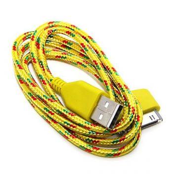 Geflochtenes USB-Kabel für iPhone iPad und iPod  Ladegeräte - Batterien externe - Kabel iPhone 4 - 6