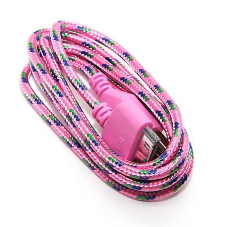 Braided USB Cable for iPhone iPad and iPod  Chargers - Powerbanks - Cables iPhone 4 - 7