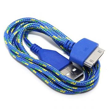 Braided USB Cable for iPhone iPad and iPod  Chargers - Powerbanks - Cables iPhone 4 - 10