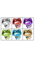 Chrome Push Button + Controller Covers - PS4 Slim