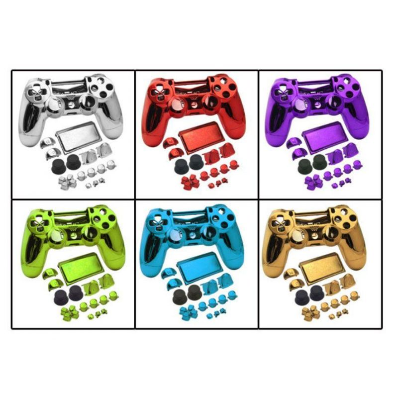 Achat Coques manette chrome + bouton - PS4 Slim HS-P4M044