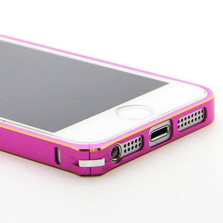 Ultra-thin 0.7mm rounded Aluminum Bumper gold iPhone 5/5S/SE  Bumpers iPhone 5 - 15