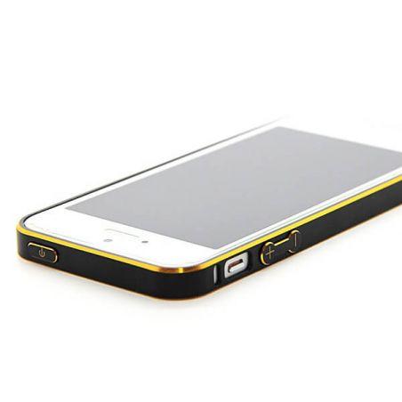 Achat Bumper ultra-fin Aluminium 0,7mm arrondi contour doré iPhone 5/5S/SE