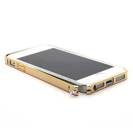 Feinste Stoßstange aus Aluminium 0,7 mm Goldkontur iPhone 5/5S/SE