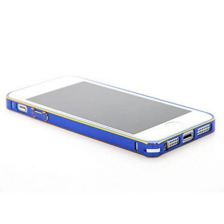 Feinste Stoßstange aus Aluminium 0,7 mm Goldkontur iPhone 5/5S/SE  Bumpers iPhone 5 - 7