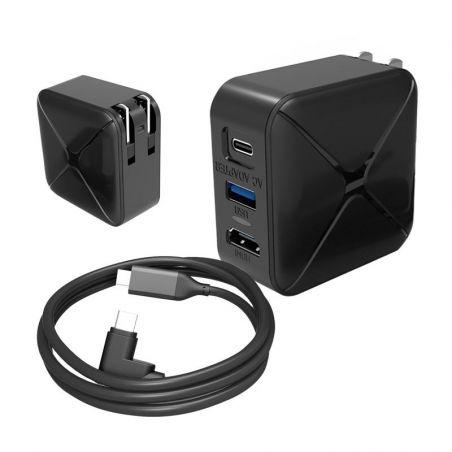 3 in 1 Schnell-Ladegerät (USB-C + HDMI Video + USB)
