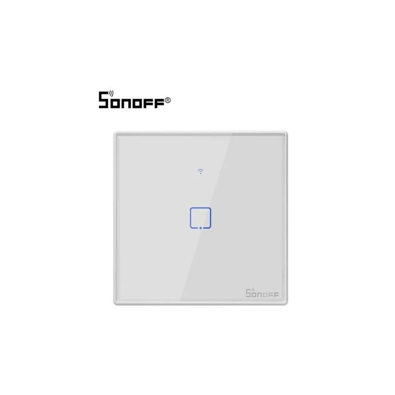 Achat Interrupteur connecté WiFi BLANC (Simple) T0EU1C