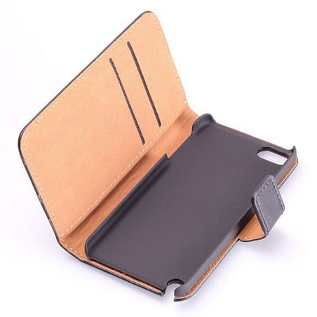 Leather imitation Portfolio Stand Case iPod Touch 5  Covers et Cases iPod Touch 5 - 5