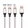 Hoco 3 in 1 Lightning and Micro USB cable