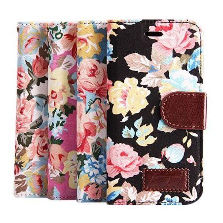 Flower style Portfolio Stand Case iPhone 6