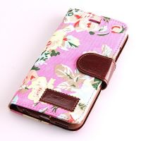 Flower style Portfolio Stand Case iPhone 6  Covers et Cases iPhone 6 - 14