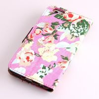 Flower style Portfolio Stand Case iPhone 6  Covers et Cases iPhone 6 - 15