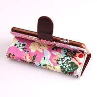 Flower style Portfolio Stand Case iPhone 6  Covers et Cases iPhone 6 - 18