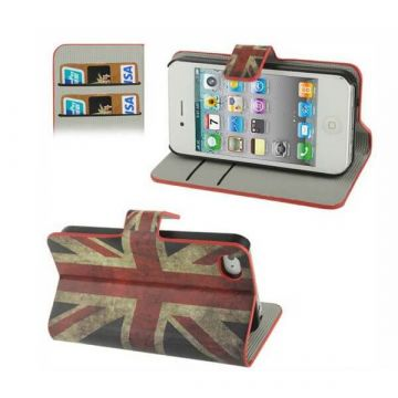 Flip Over Cover Case UK Flag Vintage Look iPhone 4 4S  Covers et Cases iPhone 4 - 3