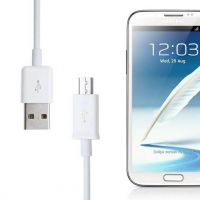 White USB microphone cable for Samsung  Chargers - Powerbanks - Cables Galaxy S3 - 1