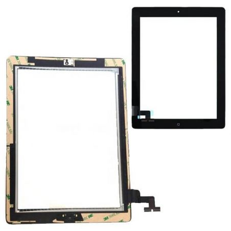 Touchscreen zusammengesetzt für iPad 2 Schwarz  Bildschirme - LCD iPad 2 - 1