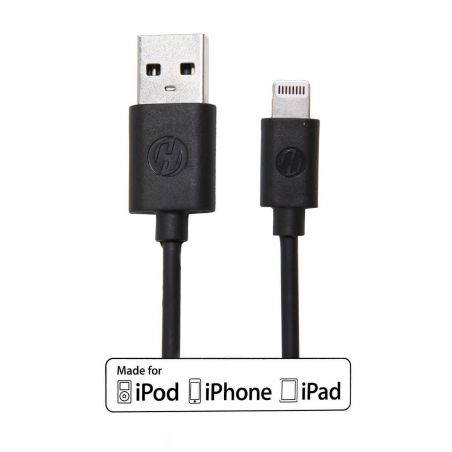 Pack 2 in 1 black MFI cable lightning + CE approved mains charger  iPhone 5 : Packs - 4