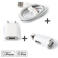 Lader verpakking met 3-in-1 IPhone 3GS 3GS 3GS 3GS 4 4 4S Verpakking met 3-in-1 IPhone 3GS 4 4S Wit