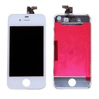 Original Glass Digitizer, LCD Screen and Full Frame for iPhone 4 White  Screens - LCD iPhone 4 - 1