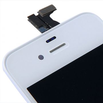 Original Glass Digitizer, LCD Screen and Full Frame for iPhone 4 White  Screens - LCD iPhone 4 - 2