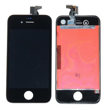 Originale Qualität iPhone 4 Schwarz   Displayglass, Touch Screen, Front Deco Rahmen. iPhone 4G Schwarz   Bildschirme - LCD iPhon