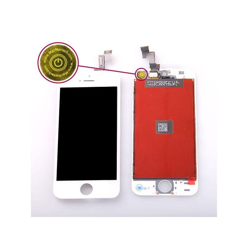 Achat Kit Ecran BLANC iPhone 5S (Compatible) + outils KR-IPH5S-064