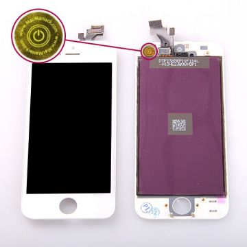 Original Glass digitizer, LCD Retina Screen and Full Frame for iPhone 5 White  Screens - LCD iPhone 5 - 1