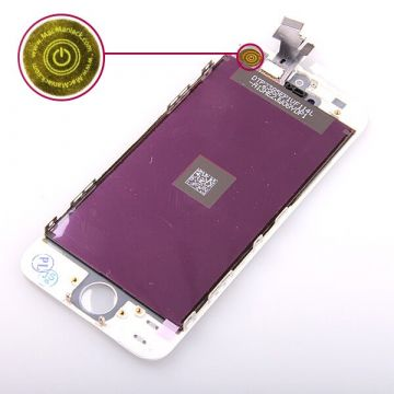 Original Glass digitizer, LCD Retina Screen and Full Frame for iPhone 5 White  Screens - LCD iPhone 5 - 2