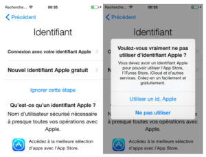 identifiants iphone
