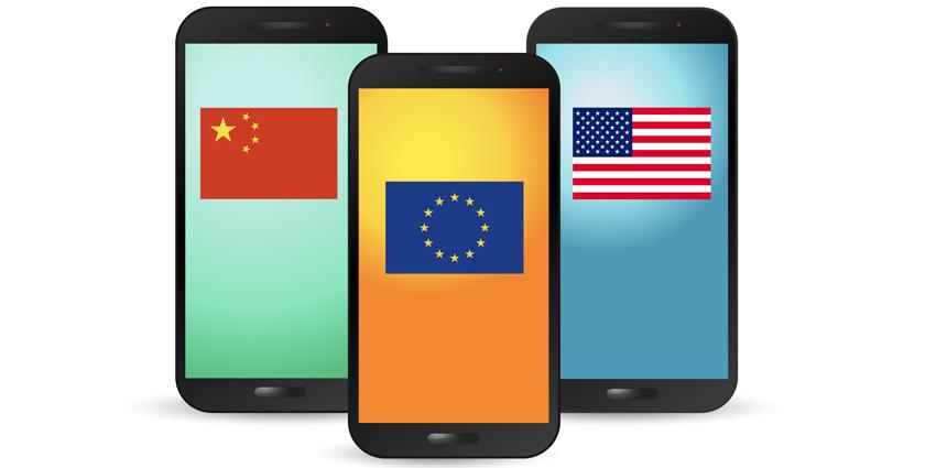 Différence smartphone UE / USA / Chine