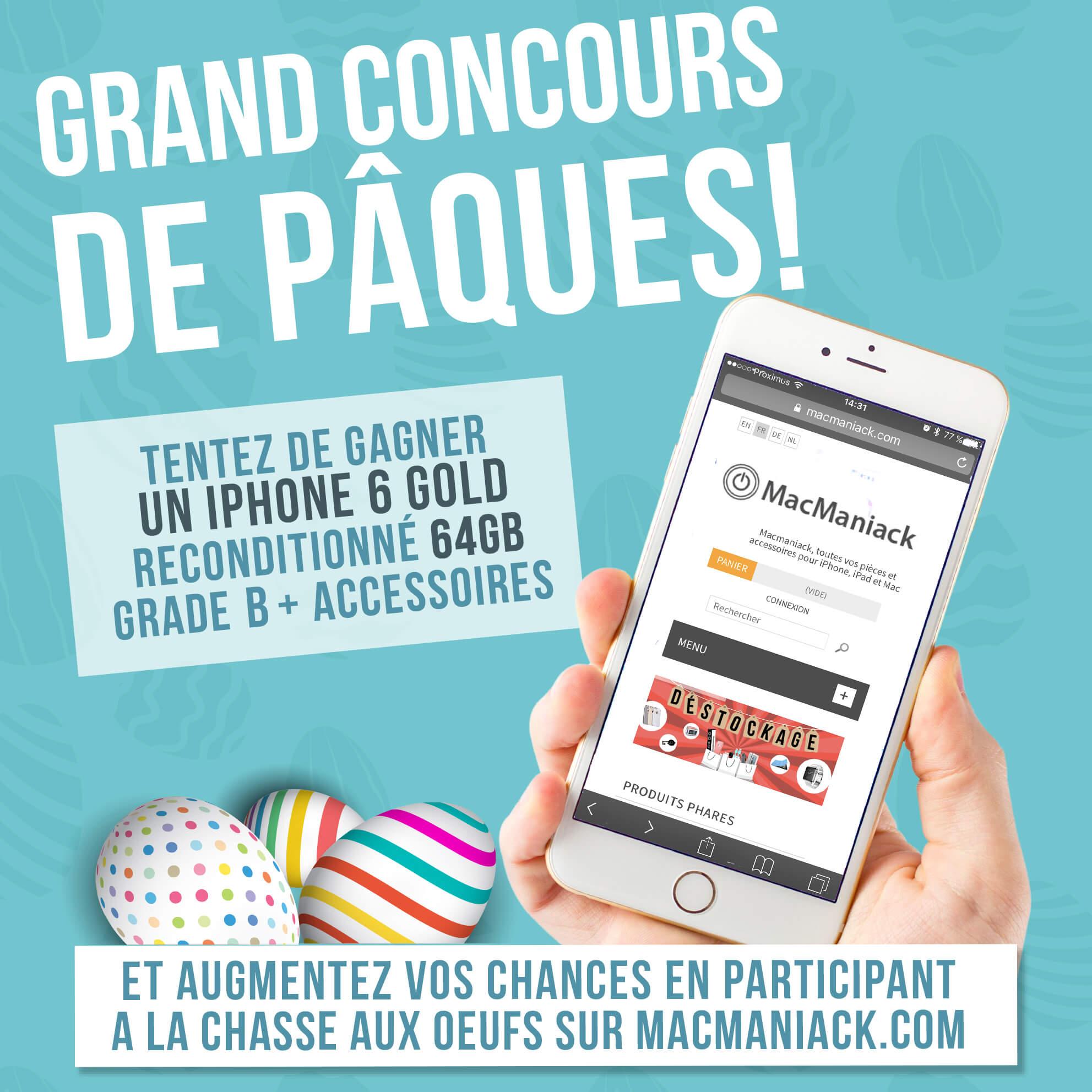 Grand concours Facebook Pâques gagner un iPhone